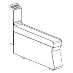 Neutralelement 100 mm breit  ohne Schublade - 10209308 - KBS Gastrotechnik