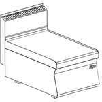 Neutralelement 400 mm breit  ohne Schublade - 10209309 - KBS Gastrotechnik