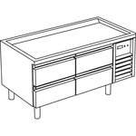 Kühl-Unterbau mit 4 Schubladen ohne Arbeitsplatte - 10209339 - KBS Gastrotechnik