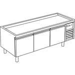 Kühl-Unterbau 3 Türen ohne Arbeitsplatte - 10209340 - KBS Gastrotechnik
