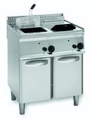 Gas-Fritteuse 2 Becken 2x 14 Liter Standgerät - 10324002 - KBS Gastrotechnik