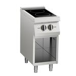 Induktions-Kochfläche 2 Platten offener Unterbau - 10411418 - KBS Gastrotechnik