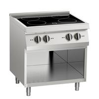 Induktions-Kochfläche 4 Platten offener Unterbau - 10411420 - KBS Gastrotechnik