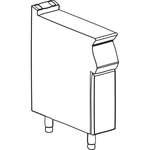 Neutralelement B 200mm ohne Schublade offener Unterbau - 10509402 - KBS Gastrotechnik