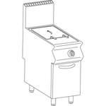Gas-Fritteuse 1 Becken 23 L Standgerät 21kW elektr. Steuerung - 10524404 - KBS Gastrotechnik