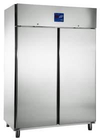 Edelstahlkühlschrank 2türig KU 1418 - 111441 KBS-Gastrotechnik