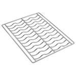 Wellenrost 435x320mm für Baguettes, verchromt - 11290021 - KBS Gastrotechnik