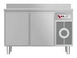 Kühltisch mit Arbeitsplatte aufgekantet KTF 2220 M - 152220 - KBS Gastrotechnik