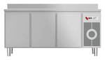 Kühltisch mit Arbeitsplatte aufgekantet KTF 3220 M - 152320 - KBS Gastrotechnik