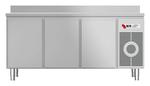 Kühltisch mit Arbeitsplatte aufgekantet KTF 3220 O Zentralkühlung - 153320 - KBS Gastrotechnik
