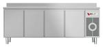 Kühltisch mit Arbeitsplatte aufgekantet KTF 4220 O Zentralkühlung - 153420 - KBS Gastrotechnik