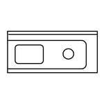 Universal-Zulauftisch  - 20390013 - KBS Gastrotechnik