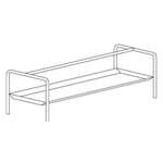 Korbregal für Tische 160x63x70cm - 20390020 - KBS Gastrotechnik