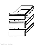 Schubladensatz 3 x 1/3 GN 1/1 KTF Serie - 214013 - KBS Gastrotechnik
