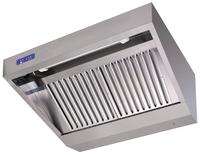 Wandhaube Trapezform 180x90cm Anschlußfertig -Filter Typ B - 30112005 - KBS Gastrotechnik