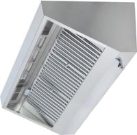 Wandhaube Trapezform 300x110cm  Flammschutzfilter Typ B - 30123011 - KBS Gastrotechnik