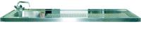 Schanktischabdeckung 2100x750mm mit Wulstrand 1 Becken links - 304211 - KBS Gastrotechnik