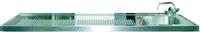 Schanktischabdeckung 2700x750mm mit Wulstrand 1 Becken rechts - 304218 - KBS Gastrotechnik