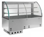 Einbauvitrine für Zentralkühlung mit Kühlwanne E EKVW 2A GN 3/1 ohne Maschine 357131 KBS Gastrotechnik