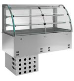 Einbauvitrine mit Kühlwanne E EKVW 2A GN 2/1 SB 360120 KBS Gastrotechnik