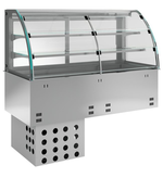 Kühlwanne für Selbstbedienung E-EKVW 2A GN 2/1 SB Kühlvitrine - 360120 - KBS Gastrotechnik