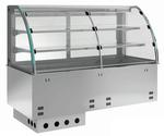 Einbauvitrine für Zentralkühlung mit Kühlwanne E EKVW 2A GN 3/1 SB ohne Maschine 361131 KBS Gastrotechnik