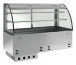 Einbauvitrine für Zentralkühlung mit Kühlwanne E-EKVW 2A GN 2/1 OP ohne Maschine - 365121 KBS-Gastrotechnik