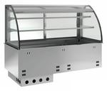 Einbauvitrine für Zentralkühlung mit Kühlwanne E EKVW 2A GN 3/1 OP ohne Maschine 365131 KBS Gastrotechnik