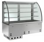 Einbauvitrine für Zentralkühlung mit Kühlwanne E-EKVW 3A GN 2/1 ohne Maschine - 369121 KBS-Gastrotechnik