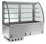 Einbauvitrine für Zentralkühlung mit Kühlwanne E EKVW 3A GN 3/1 ohne Maschine 369131 KBS Gastrotechnik