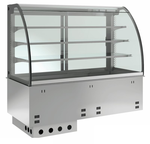 Einbauvitrine für Zentralkühlung mit Kühlplatte E EKVP 3A GN 2/1 ohne Maschine 371121 KBS Gastrotechnik