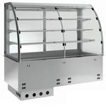 Einbauvitrine für Zentralkühlung mit Kühlwanne E-EKVW 3A GN 2/1 SB ohne Maschine - 373121 KBS-Gastrotechnik