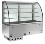 Einbauvitrine für Zentralkühlung mit Kühlplatte E EKVP 3A GN 2/1 SB ohne Maschine 375121 KBS Gastrotechnik