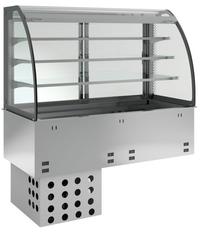 Kühlwanne kundenseitig offen E-EKVW 3A GN 2/1 OP Kühlvitrine - 376120 - KBS Gastrotechnik