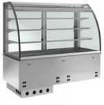 Einbauvitrine für Zentralkühlung mit Kühlwanne E-EKVW 3A GN 2/1 OP ohne Maschine - 377121 KBS-Gastrotechnik