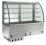 Einbauvitrine für Zentralkühlung mit Kühlplatte E EKVP 3A GN 3/1 OP ohne Maschine 379131 KBS Gastrotechnik