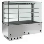Einbauvitrine für Zentralkühlung mit Kühlplatte P-EKVP 3A GN 2/1 ohne Maschine - 383121 KBS-Gastrotechnik