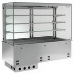 Einbauvitrine für Zentralkühlung mit Kühlplatte P-EKVP 3A GN 2/1 OP ohne Maschine - 387121 KBS-Gastrotechnik