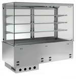 Einbauvitrine für Zentralkühlung mit Kühlplatte P-EKVP 3A GN 3/1 OP ohne Maschine - 387131 KBS-Gastrotechnik