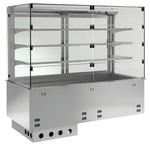 Einbauvitrine für Zentralkühlung mit Kühlplatte P EKVP 3A GN 2/1 SB ohne Maschine 391121 KBS Gastrotechnik