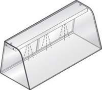 Hustenschutz mit Licht GN 3/1 für Einbauwanne und Einbauplatte - 392033 - KBS Gastrotechnik