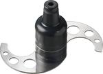 Emulsionsmesser 2 Klingen gelocht, mit Schaft - 40590026 - KBS Gastrotechnik
