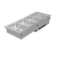 Einbau Bain Marie 2x GN 1/1 mit getrennt regelbaren Becken - 70510025 - KBS Gastrotechnik