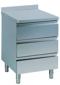 Schubladenschrank mit Aufkantung B 40cm x  T  70cm - 90621001 - KBS Gastrotechnik