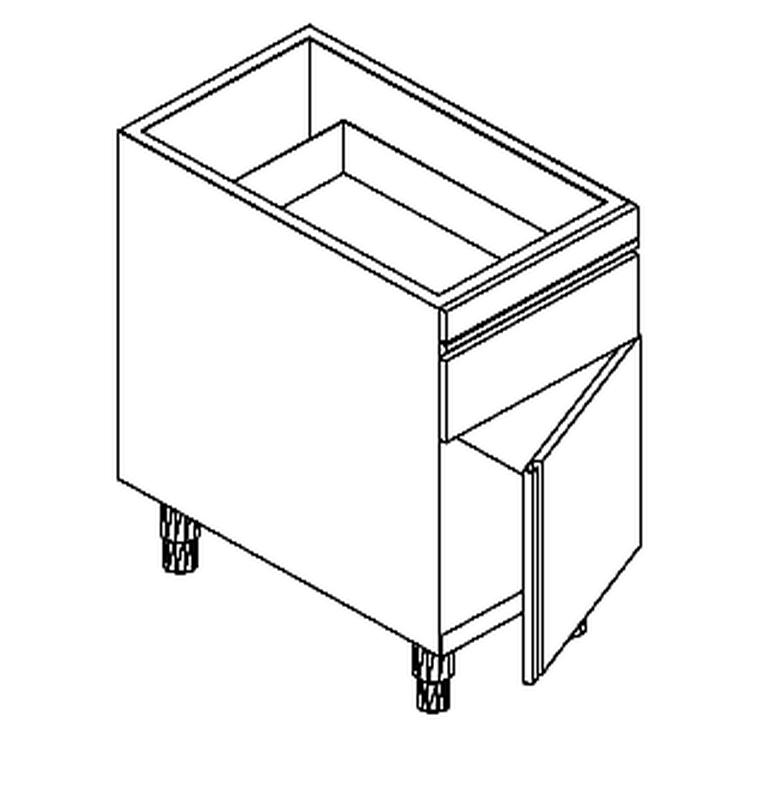 arbeitsschrank mit dreht r und schublade b 50cm x t 68cm kbs gastrotechnik. Black Bedroom Furniture Sets. Home Design Ideas