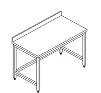 Arbeitstisch unterfahrbar B 140cm x  T  70cm - 93031069 - KBS Gastrotechnik