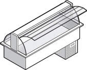 Einbaukühlvitrine Compact - gebogenes Glas KBS Gastrotechnik