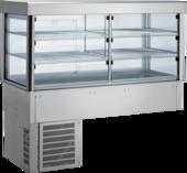 Einbaukühlvitrine Compact mit Kühlplatte - gerades Glas - Selbstbedienungsklappen KBS Gastrotechnik