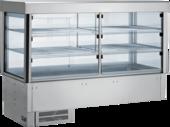 Einbaukühlvitrine Compact mit Kühlwanne - gerades Glas - Selbstbedienungsklappen KBS Gastrotechnik