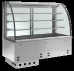 Einbaukühlvitrine Elegance Zentralkühlung - mit Kühlplatte - kundenseitig offen KBS Gastrotechnik